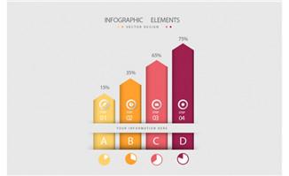 数据创意柱状图表设计