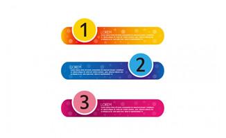 彩色书签横幅信息图表素