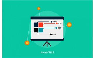 商业信息数据对比背景素
