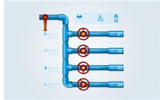 质感管道图表设计数字目录