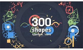 300组动漫卡通元素MG动画特