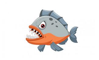瞪眼睛的大嘴鱼素材设计
