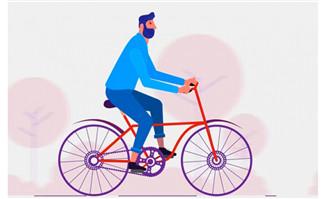 用ae制作骑自行车的人动作视频教程