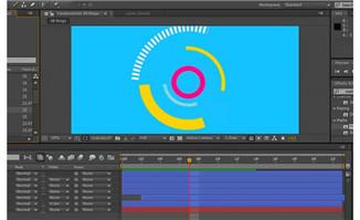 AE软件制作商务特效元素MG动画教学视频