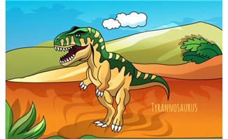 吼叫大恐龙形象设计素材