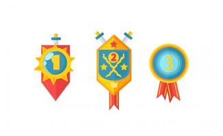 徽章奖牌图标设计素材