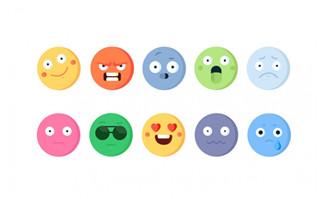 Emojie表情矢量图标图片