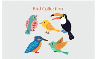 可爱鸟类卡通素材下载