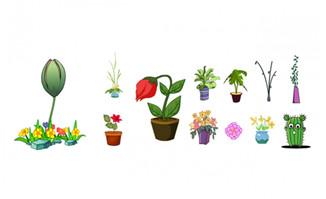 各种稀有植物花卉造型设计素材下载