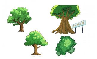二维动画植物景观大树造型设计