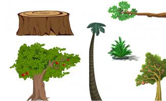 各种flash动画场景植物道具素材
