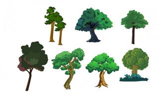 城市景观植物绿化带树木造型设计大全
