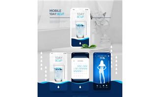 健康用水示意图UI界面设计