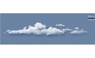 长条的云朵天空中白云素