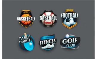 精致足球蓝球运动项目图