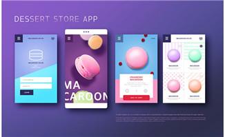 时尚紫色背景小程序界面