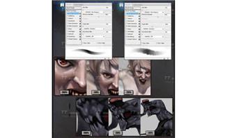 手绘怪物怪异的人类ps笔刷CG创作资源