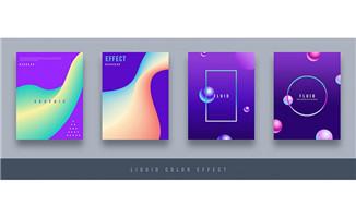 紫色简单大气创意图案设计