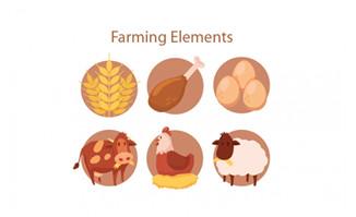 卡通农场产品元素矢量素