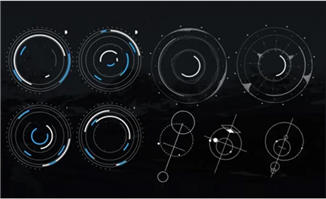 300组HUD高科技信息图表M