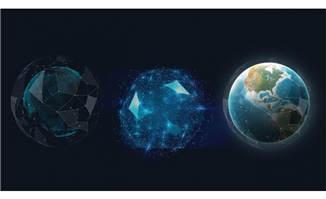 蓝色科技感圆圈造型设计