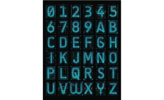 科技感数字字母全息科技设计素材