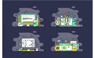 商务插画手绘设计元素