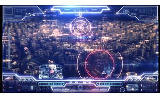 HUD动画指示控制面板科幻