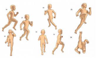 动画中人物各种走跑动作