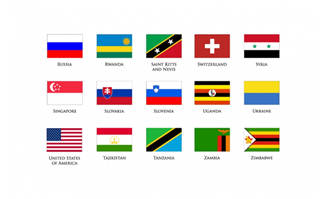 世界各国国旗矢量图标图