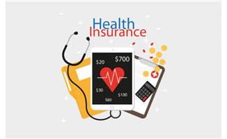 卡通医疗健康保险元素素