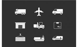 物流运输方式图标设计