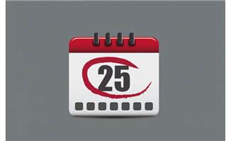 日历标注25号素材矢量