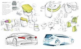 机械工业模型手绘图设计大全学习资料