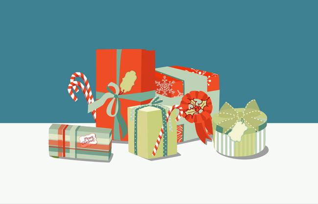 矢量礼盒礼物素材图片下载