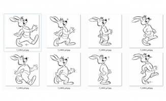 动漫卡通兔子走路动作分