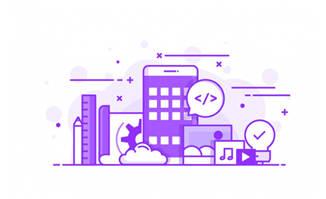 紫色图标图片