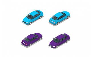 小汽车轿车矢量素材下载
