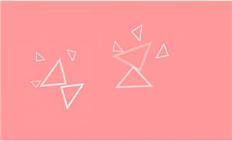 三角形元素闪动效果MG动画背景设计素材