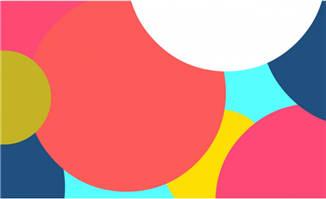 多种彩色图案堆积在一起转场特效素材