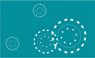 多组圆圈放大缩小特效MG动画制作素材