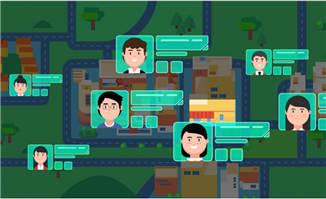 APP里面显示客户信息的动画效果视频