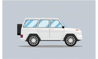 白色越野小车EPS矢量素材