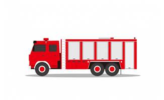 扁平化消防车矢量素材下载