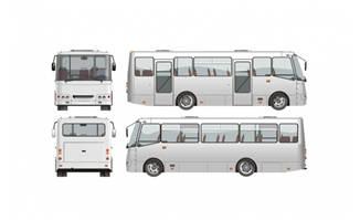 大客车透视图素材矢量设计下载