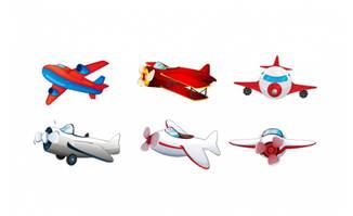 儿童玩具矢量飞机设计素