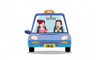 卡通出租车矢量设计素材