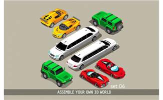 扁平化汽车卡通交通AI素材