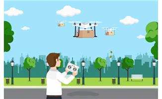 无人机AI素材设计