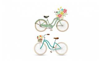 自行车卡通设计素材